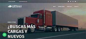 Landing Page para campaña de AdWords de empresa transportista