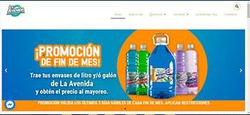 Catálogo electrónico desarrollado en WordPress para La Avenida, una empresa de Productos Químicos de Limpieza a mayoreo y menudeo en Monterrey, N.L.