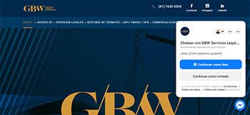 Sitio web en WordPress + Elementor para GBW una empresa de servicios legales y de consultoría con base en Monterrey, N.L.