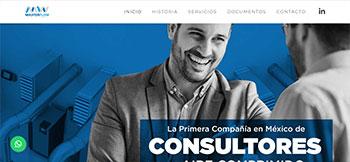Sitio web creado en HTML5 para Master Flow, la primera compañia en México de Consultores de Aire Comprimido