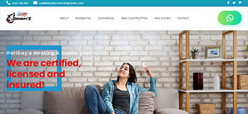 Sitio web en WordPress para Garibay's AC, una empresa de instalación y mantenimiento de aires acondicionados en Houston, TX