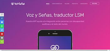 Landing Page en HTML5 para el Instituto de Tecnología Aplicada (IPA) para la descarga de su App Voz y Señas, un traductor de lenguaje LSM